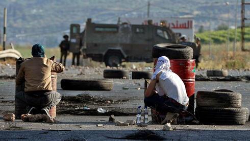 Disturbios de palestinos en Cisjordania.