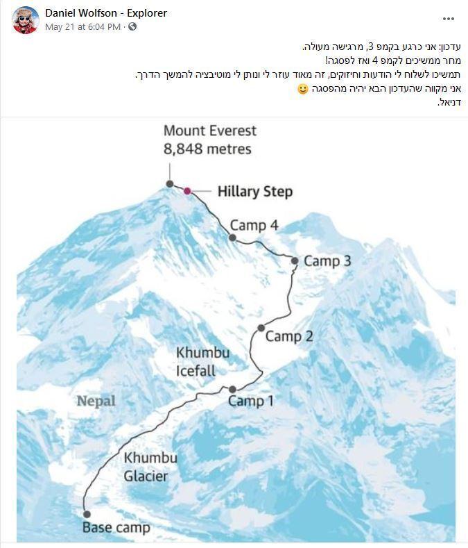 El estricto cronograma del ascenso que la montañista compartió en sus redes sociales.
