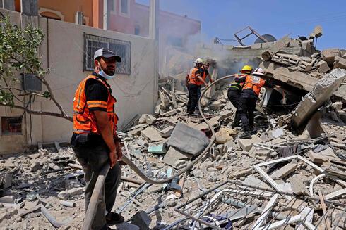 Destrozos en Gaza tras una ofensiva de las FDI.