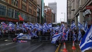 Partidarios a favor de Israel se manifiestan en Londres, el 23 de mayo de 2021.