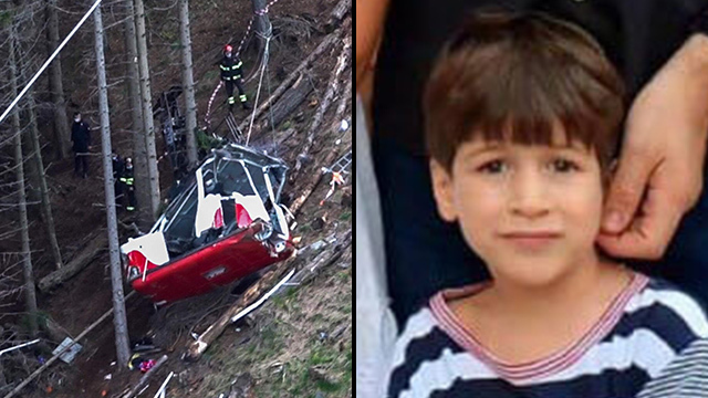Eitan, el único sobreviviente del accidente.
