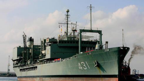 Imagen de archivo del buque Kharg, que se incendió y hundió durante la madrugada.