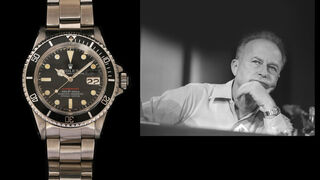 El anuncio de la subasta, acompañado de una foto de Rabin utilizando el reloj.