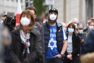 Manifestación contra el antisemitismo en Alemania.