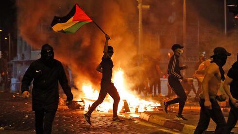 Disturbios de palestinos en el barrio de Shuafat, en Jerusalem Este.