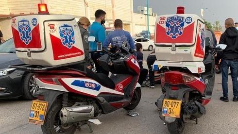 Motocicletas-ambulancia en un accidente en Ramle.