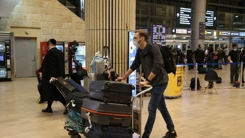 Pasajeros llegando al aeropuerto Ben-Gurion la semana pasada.