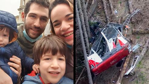 La familia Biran y las imágenes del accidente.
