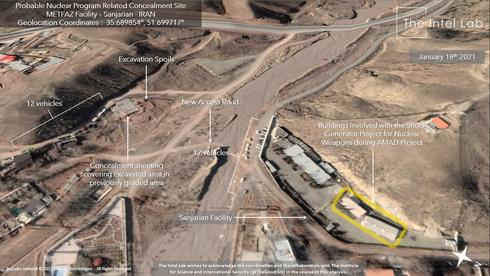 Imagen satelital de la instalación nuclear de Sanjarian captada en enero.