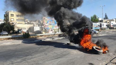 Motín en Tayibe tras el inicio de la guerra de Gaza.