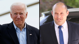 Joe Biden, presidente de Estados Unidos (izquierda) y Naftalí Bennett, primer ministro de Israel.