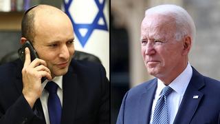 Naftalí Bennett y Joe Biden.