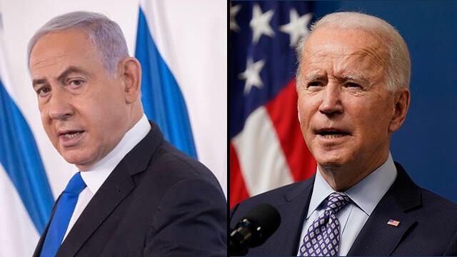 El líder de la oposición israelí, Benjamin Netanyahu, y el presidente de los Estados Unidos, Joe Biden.