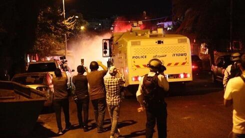 Violentos enfrentamientos en Sheikh Jarrah, en Jerusalem Este.