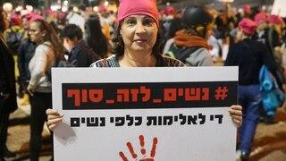 Archivo: marcha contra la violencia de género en Israel.