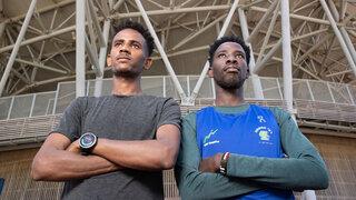 Muhammad y Melake, los jóvenes refugiados que competirán en los próximos juegos olímpicos.