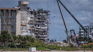 El condominio Champlain Towers South colapsado en Surfside, Florida.
