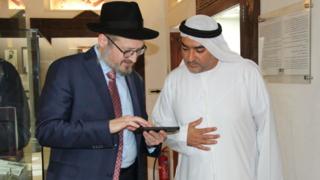 El rabino Mendy Chitrik en Dubai.