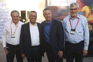 El director ejecutivo de Bank Hapoalim, Dov Kotler; Erel Margalit, presidente y fundador de JVP y Margalit Startup Cityel; Moshe Lion, alcalde de Jerusalem; y Reuben Krupik, presidente de Bank Hapoalim.
