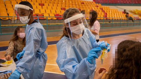 Pruebas de coronavirus en Binyamina, en el norte de Israel, donde se registró un brote en las últimas semanas.