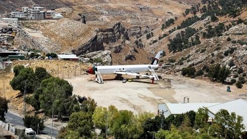 """Predio donde funcionará el """"Restaurante y cafetería Al-Sairafi Nablus de la aerolínea palestino-jordana""""."""
