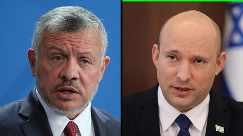 El rey Abdullah II de Jordania y el primer ministro Naftali Bennett.