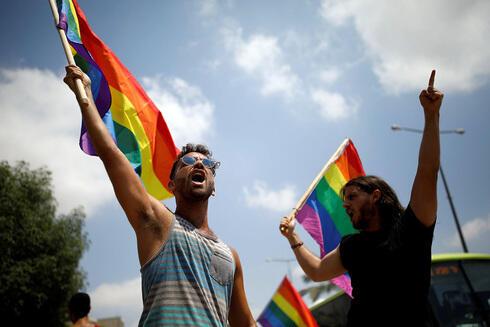 Protesta llevada a cabo por miembros de la comunidad LGBTQ + hace tres años en Beer Sheba para exigir el derecho a la gestación subrogada.