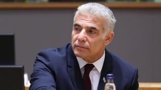 El ministro de Asuntos Exteriores, Yair Lapid, en el Consejo de Asuntos Exteriores de la UE.