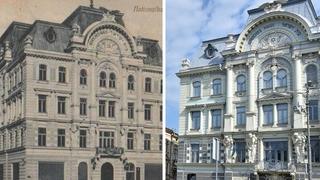 """La histórica """"Casa Judía"""", antes y ahora."""