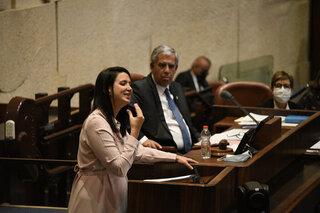 Shirley Pinto y un discurso histórico en la Knesset.