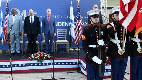 El primer ministro Bennett participa en el evento por el Día de la Independencia de Estados Unidos en Jerusalem.