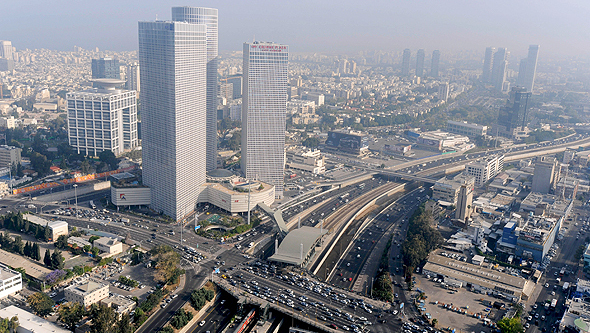 Vista aérea de Tel Aviv.