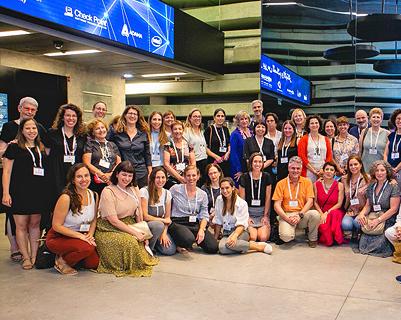 Algunas de las participantes en el evento.