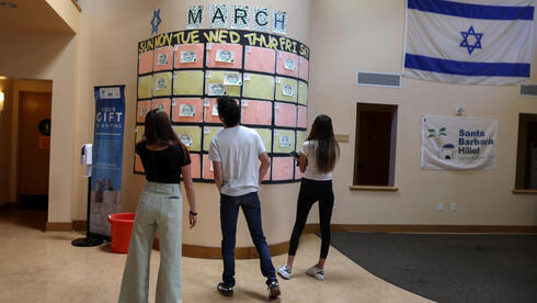 Estudiantes judíos en el campus de la Universidad de California.