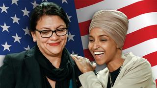 Las congresistas demócratas Ilhan Omar (derecha) y Rashida Tlaib.