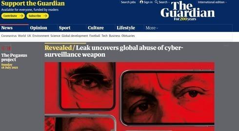 La investigación sobre el presunto espionaje a periodistas y activistas en The Guardian.