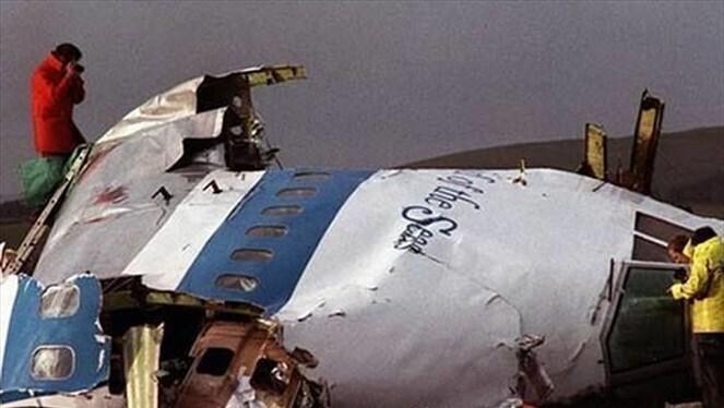 Así quedó la aeronave tras el ataque terrorista.