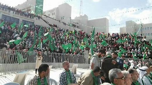 Manifestación de Hamás en la ciudad cisjordana de Naplusa en 2019.