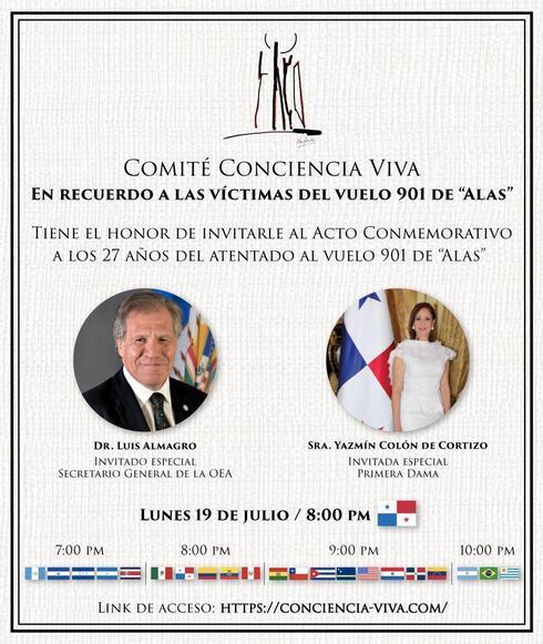 Acto virtual en homenaje a las víctimas del atentado.