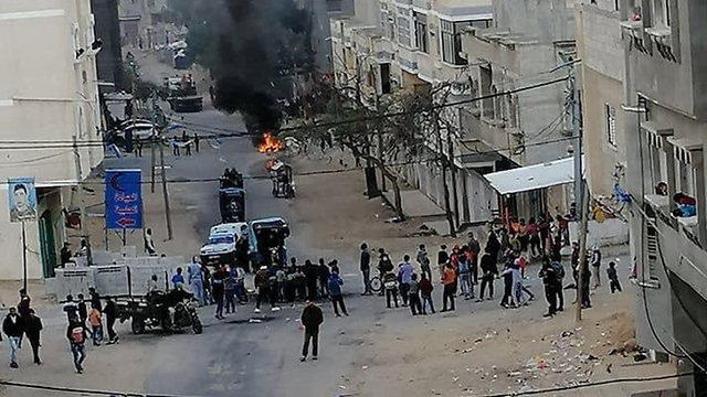 Una inusual manifestación en Gaza en marzo de 2019.