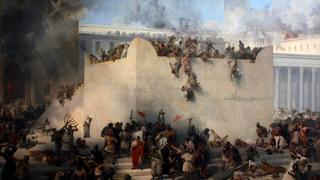 """""""Destrucción del Templo de Jerusalem"""", de Francesco Hayez."""