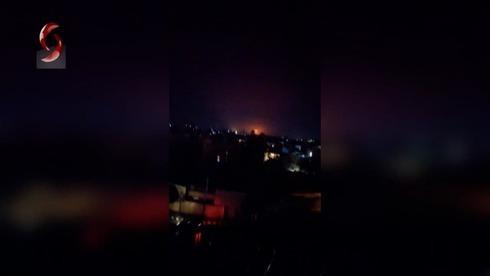 Presunto ataque israelí en Siria durante la noche.