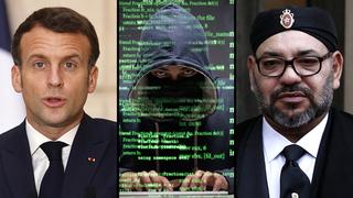 Macron y el rey de Marruecos, entre los presuntos espiados a través de Pegasus.