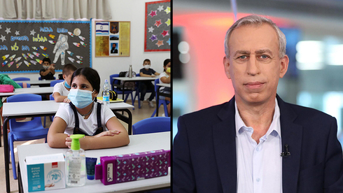 Alumnos en clase con máscaras / Profesor Nachman Ash, director general del Ministerio de Salud.