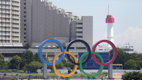 Los anillos olímpicos en Tokio.