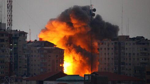 Imagen ilustrativa: ataque aéreo de las FDI en Gaza.