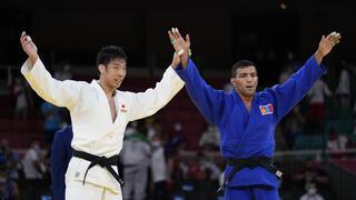 El final de la pelea entre el ex iraní Saeid Mollaei y el japonés Takanori Nagase.