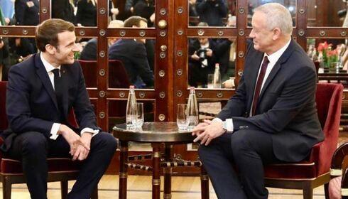 Un encuentro entre Gantz y Macron en enero de 2020.