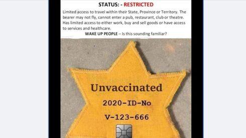 La publicación en la página de Facebook del Partido Republicano de Oklahoma donde se utiliza una estrella amarilla para comparar las restricciones del coronavirus con el Holocausto.