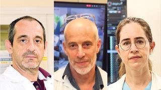 Aharon Bolshinsky, Ami Neuberger y Noa Eliakim-Raz, directores de salas COVID de Israel.